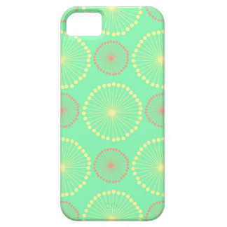 Batik tribal girly floral chic green dots pattern iPhone 5 covers
