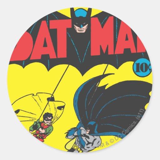 Batman #1 Comic Round Stickers