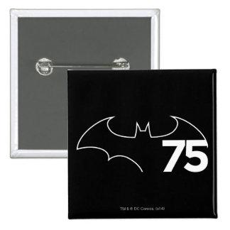 Batman 75 Logo 15 Cm Square Badge