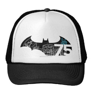 Batman 75 Logo - Chalkboard Trucker Hats