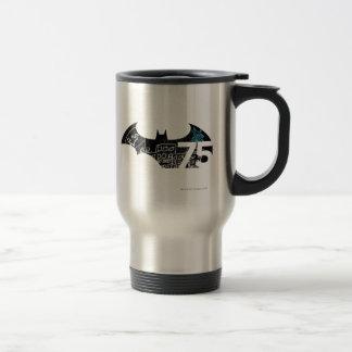 Batman 75 Logo - Chalkboard Stainless Steel Travel Mug