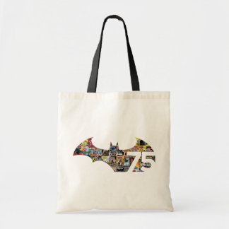 Batman 75 Logo - Comic Covers Budget Tote Bag
