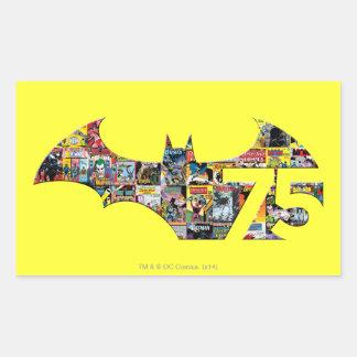 Batman 75 Logo - Comic Covers Rectangular Sticker