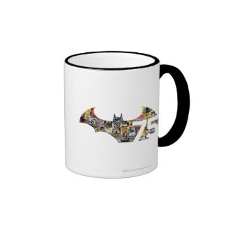 Batman 75 Logo - Comic Covers Ringer Mug