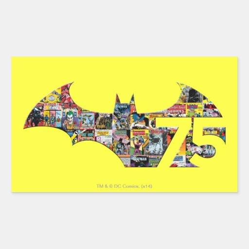 Batman 75 Logo - Comic Covers Rectangular Stickers
