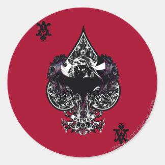 Batman Ace of Spaces Gothic Crest Round Sticker