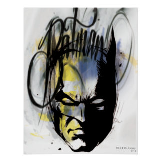 Batman Airbrush Portrait Poster