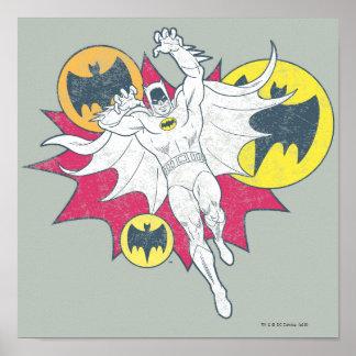 Batman And Bat Symbol Graphic Posters
