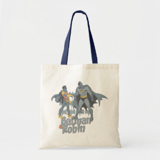 Batman And Robin Distressed Graphic Budget Tote Bag
