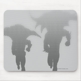 Batman And Robin Halftone Gradient Mouse Pad