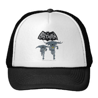 Batman And Robin With Logo Distressed Graphic Cap