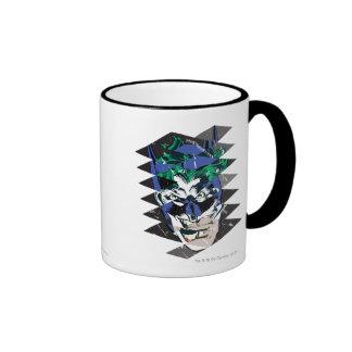 Batman and The Joker Collage Ringer Mug