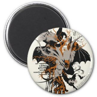 Batman and Tree 6 Cm Round Magnet