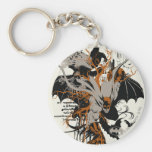 Batman and Tree Basic Round Button Key Ring