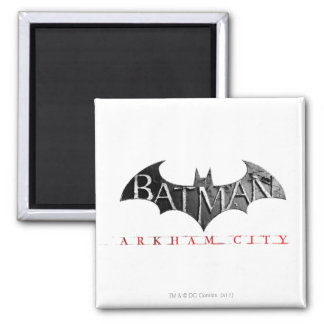 Batman Arkham City Logo Square Magnet