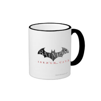 Batman Arkham City Logo Coffee Mugs