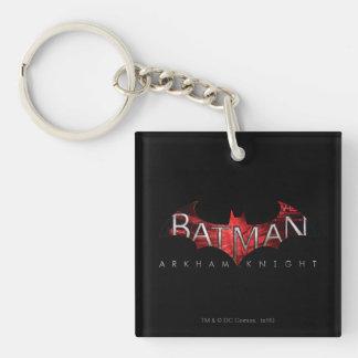 Batman Arkham Knight Red Logo Double-Sided Square Acrylic Key Ring