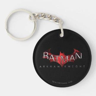 Batman Arkham Knight Red Logo Double-Sided Round Acrylic Key Ring