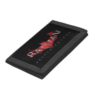 Batman Arkham Knight Red Logo Tri-fold Wallet
