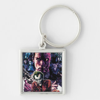 Batman - Arkham Unhinged #11 Cover Silver-Colored Square Key Ring