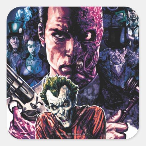 Batman - Arkham Unhinged #11 Cover Square Stickers