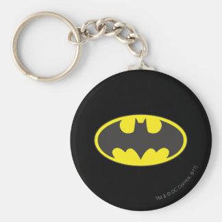 Batman Bat Logo Oval Basic Round Button Key Ring