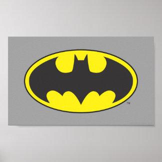 Batman Bat Logo Oval Poster