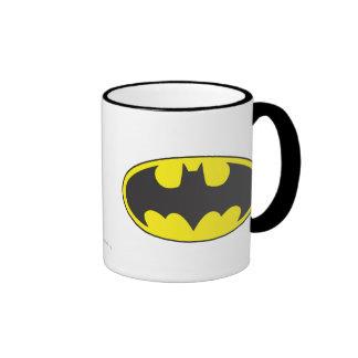 Batman Bat Logo Oval Ringer Mug