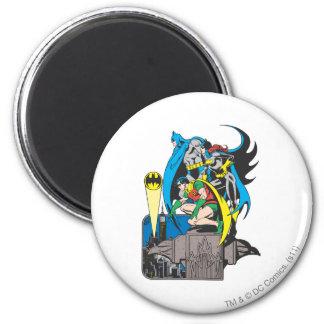 Batman/Batgirl/Robin 6 Cm Round Magnet