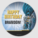 Batman Birthday Round Sticker