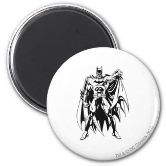 Batman Black and White Front 6 Cm Round Magnet