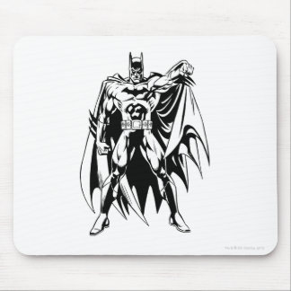 Batman Black and White Front Mouse Pad