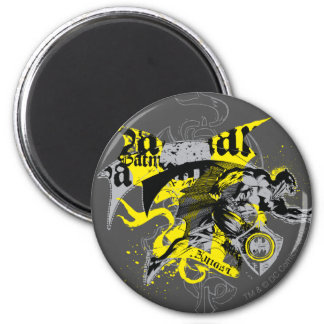 Batman Black and Yellow Collage 6 Cm Round Magnet