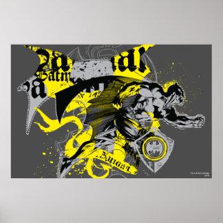 Batman Black and Yellow Collage Print