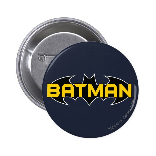 Batman Black and Yellow Logo Button