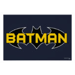 Batman Black and Yellow Logo Print