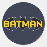 Batman Black and Yellow Logo Round Sticker