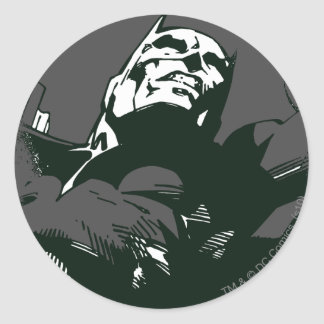 Batman Black & White Graffiti Stencil Classic Round Sticker
