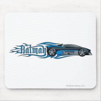 Batman | Blue Batmobile Logo Mouse Pad