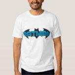 Batman   Blue Name Logo Shirts