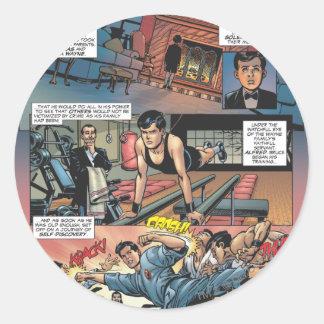 Batman - Bruce Wayne Origins 1 Round Sticker