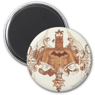 Batman Bust with Flourishes 6 Cm Round Magnet