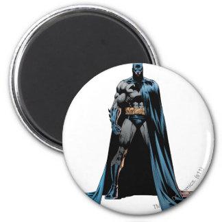 Batman cape over one side 6 cm round magnet