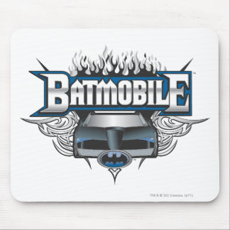 Batman Car and Flames Mousepad