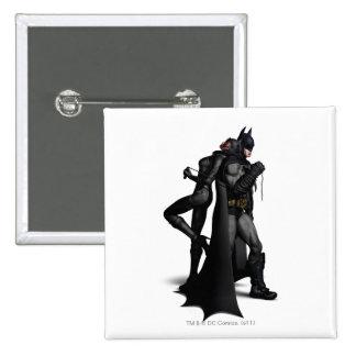 Batman & Catwoman 15 Cm Square Badge