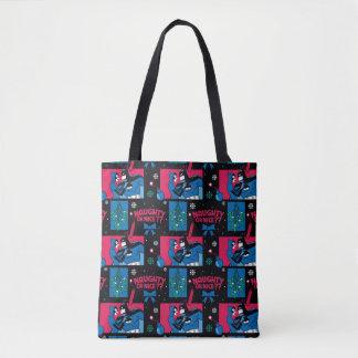 Batman | Catwoman Naughty Or Nice Pattern Tote Bag