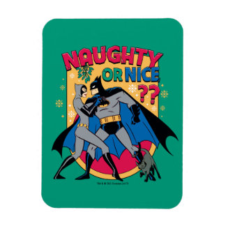 Batman | Catwoman Under Mistletoe Naughty Or Nice Magnet