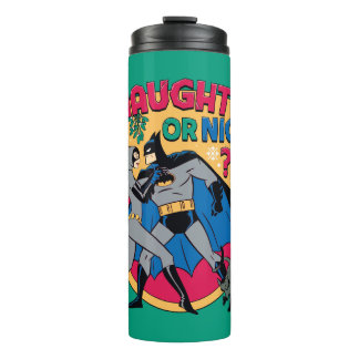 Batman | Catwoman Under Mistletoe Naughty Or Nice Thermal Tumbler