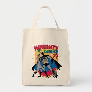 Batman | Catwoman Under Mistletoe Naughty Or Nice Tote Bag