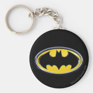 Batman Classic Logo Basic Round Button Key Ring